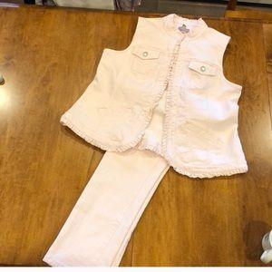 Adorable blush color jean set